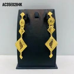 New Design Gold Plated Earrings Long Tassel Luxury Earrings