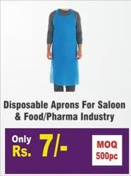 Blue Plain DISPOSABLE APRON, For Safety & Protection