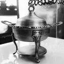 Smokey Silver Ambassador Chafing Dish
