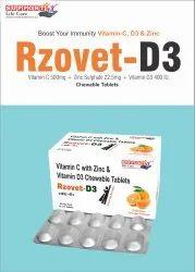 Vitamin C 500mg+ Elemental Zinc 22.5mg + Vitamin D3 400 IU