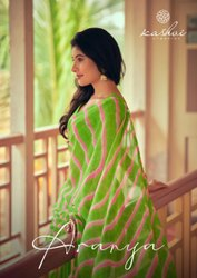 Casual Wear Printed Kashvi Creation Presents Saree, 6 m (With Blouse Piece)