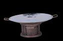 Smokey Finished Copper Subzi Tawa W 1/2 Cover