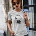 iKraft Women's Slim Fit White T-Shirt