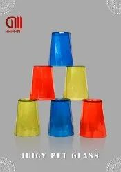 Transparent PLASTIC PET GLASS JUICY, For ANYWHERE