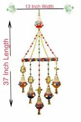 Multicolor CCT And Moti Handmade Handicraft Home Decorat Wall, For Decoration, Size: 37 X 13