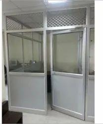 Aluminium Polished Rectangle Aluminum Door, Single, Thickness: 5 mm