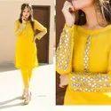 Rayon Ankle Length Designer Women Kurta Sets
