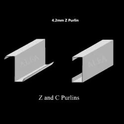 4.2mm Hot Rolled Galvanized Metal Z Purlin