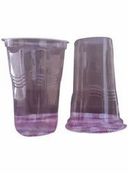 Plain Round Disposable Plastic Glass, Packet