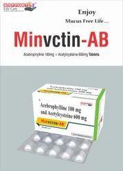 Acetylcystine 600mg + Acebrophylline 100mg TABLET