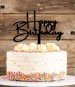Happy Birthday Acrylic Cake Topper