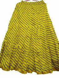 Cotton Lehariya Skirt