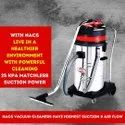 Professional Vacuum Cleaner Industrial Powered By Two Double Stage Italian Motors