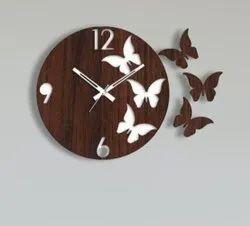 Butterfly Wooden Wall Clock