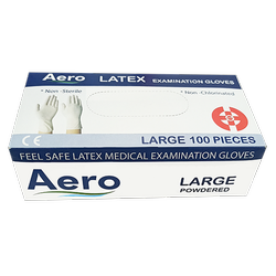 AERO Latex Examination Gloves