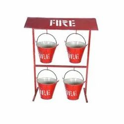Fire Bucket 9 Ltr With Stand
