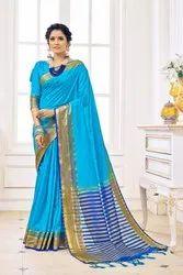 krijo Casual Wear Tagline Women S Cotton Art Silk Saree, 6.3 m (with blouse piece)