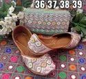 Punjabi Juttis With Hand Embroidery CLUTCH IN SURAT