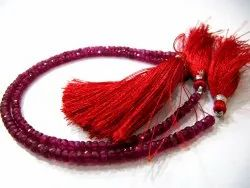 Top Quality Ruby Quartz Gemstone 3-4mm Rondelle Faceted Beads Sold Per Strand