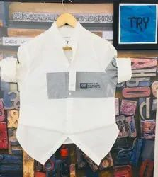 Cotton Collar Neck Now & Then Shirts, Size: M L XL