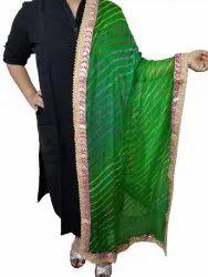 Ladies Chiffon Leheriya Embroidered Dupatta