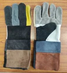 Multicolour Leather Industrial Gloves