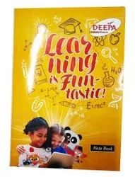 Perfect Bound Single Line 250 Pages Deepa Note Book, For Writing, Size: A5