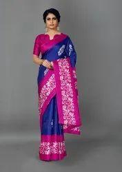 Woman Khadi Silk Designer Saree