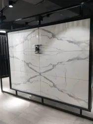 Calcutta White Ceramic Floor Tiles, 600x1200 mm, Glossy