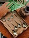 Brass Sunflower Dessert And Tea Spoon Cutlery