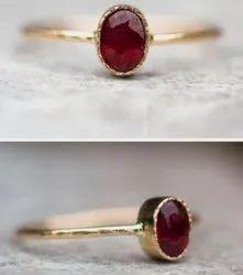 Ruby(manik) Ring (panchdhatu)