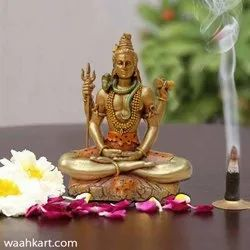 Small Shiva Statue In Golden Shade