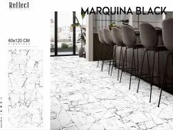 Unmatched Elegance Of White Marble Tiles - Marquina Black ,blue ,gold ,fire