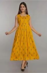 14 Kg Reyon Casual Wear Rayon Sleeveless Kurti, Wash Care: Machine wash