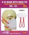 N 95 MASK WITH HEAD TIE SITRA APPROVED CERTIFIED