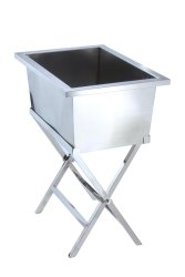Rectangular Stackable Party Bin with Folding Stand