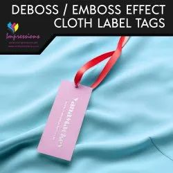Cloth Tags With Embossing