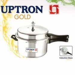 Uptron Gold Stainless Steel SS Induction Pressure Cooker, Capacity: 3.5 Litre