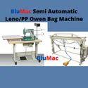 Semi Automatic Leno Bag Cutting And Sewing Machine