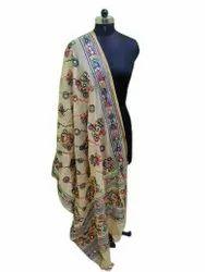 Mirror Work Embroidered Cotton Duppata