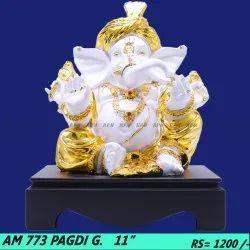 Ganesha Golden Showpiece