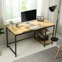 Kawachi Modern Drafting Desk Drawing, Laptop Study Table With 2 Storage Shelf