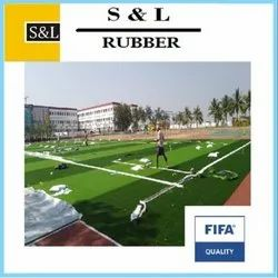 Synthetic Football Turf Flooring Service, Size: 4 Mtr X 25 Mtr