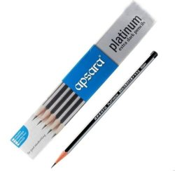 Black Wood Apsara Platinum Pencil