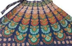 Ladies Barmeri Print Wrap Around Skirt