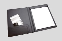 Black Leather Hotel Reception Check in Folder, Size: A4