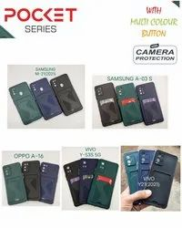 Silicone Black Mobile Covers With Pocket