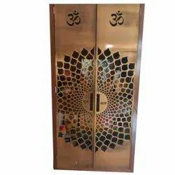 Golden Exterior Stainless Steel Temple Door Grill