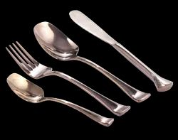 Rose Gold Trident Cutlery