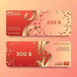 Laminated Paper Voucher Book Printing Service, For Gifting, Coustom